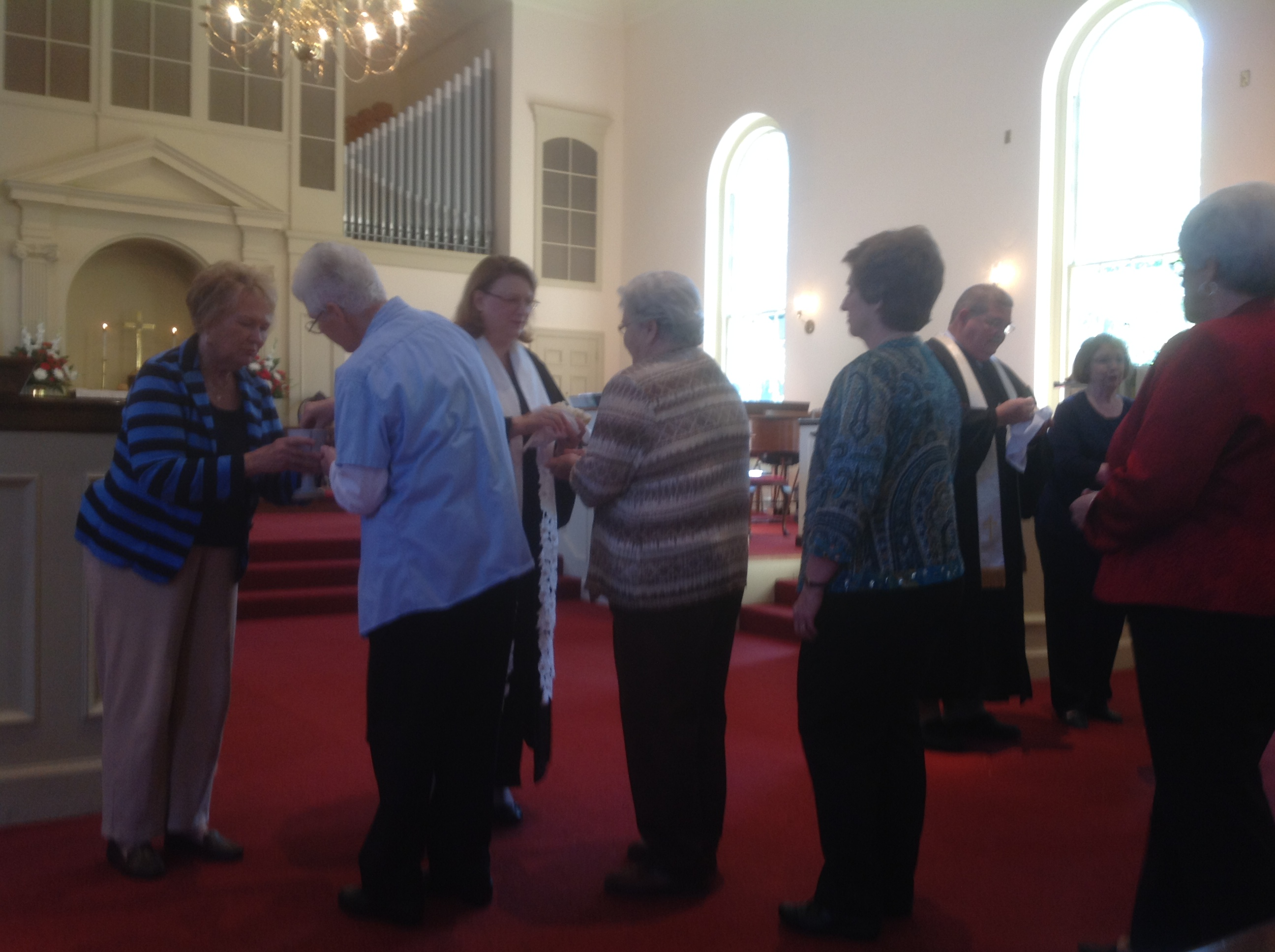 Communion during Insatllation of UMW officers Oct 4