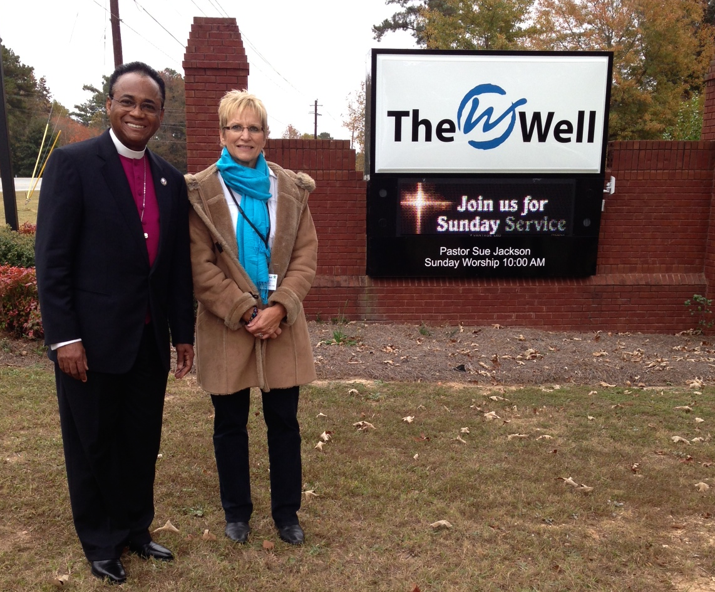 Bishop King dedicates sign