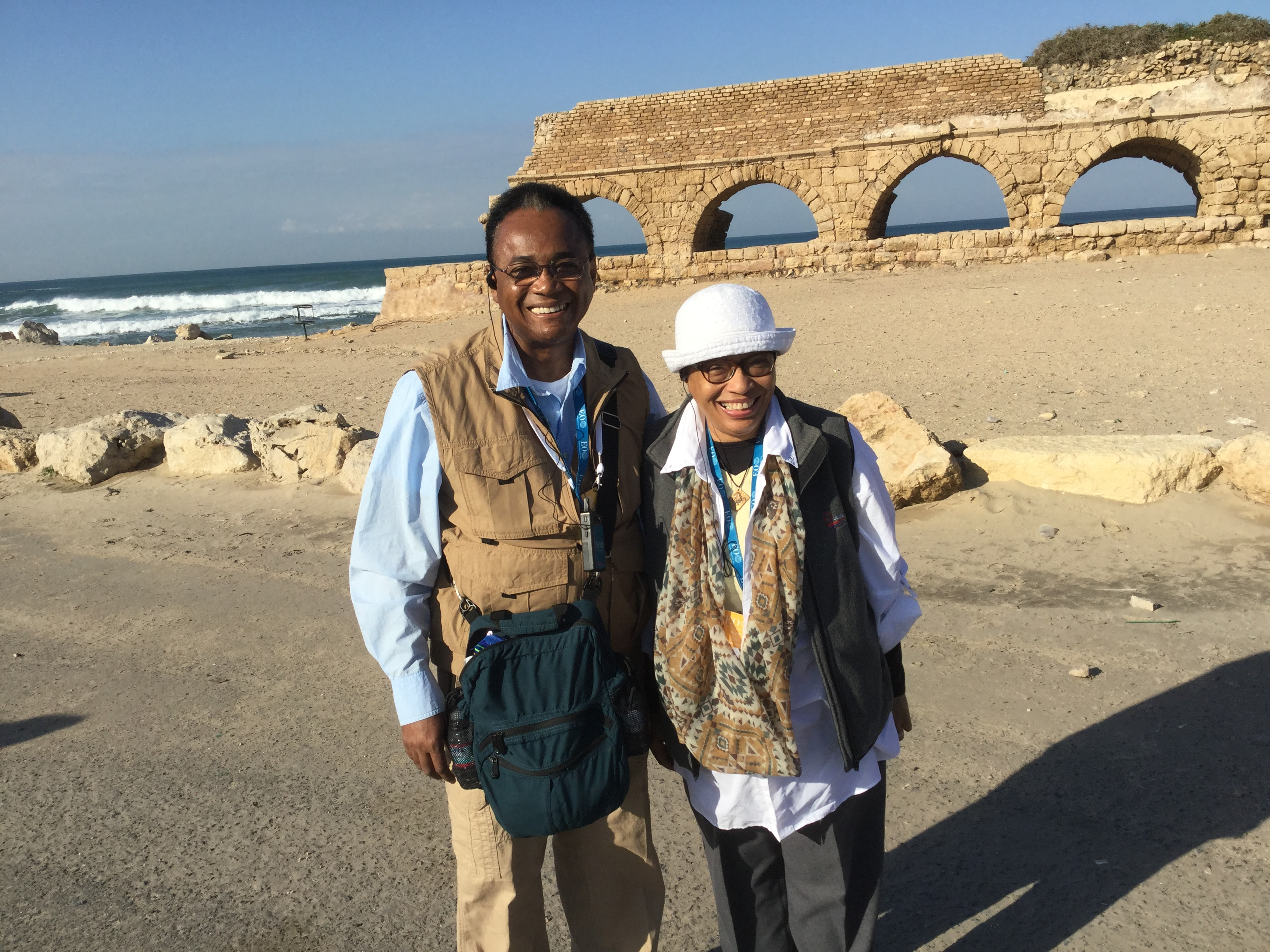 Bishop And Mrs. King-Caesarea Tour