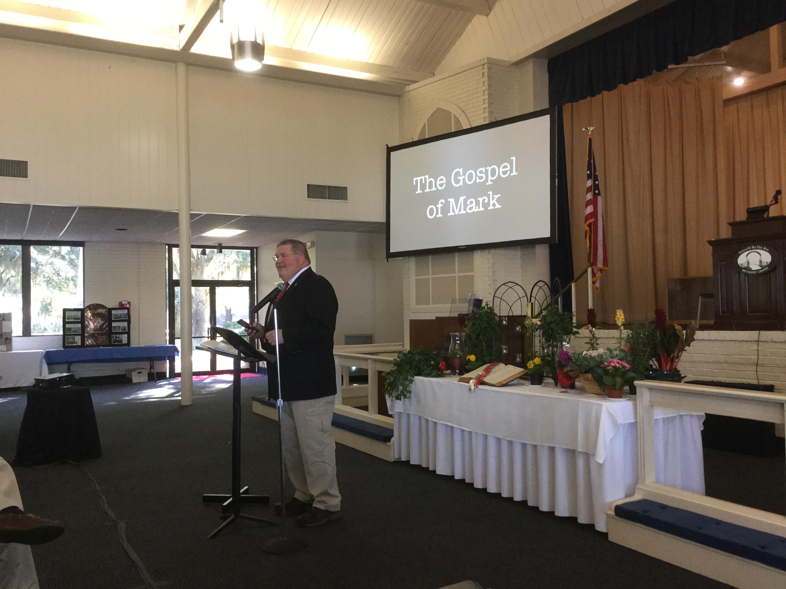 Dr. Rick Lanford teaches during Bible Study at WCM