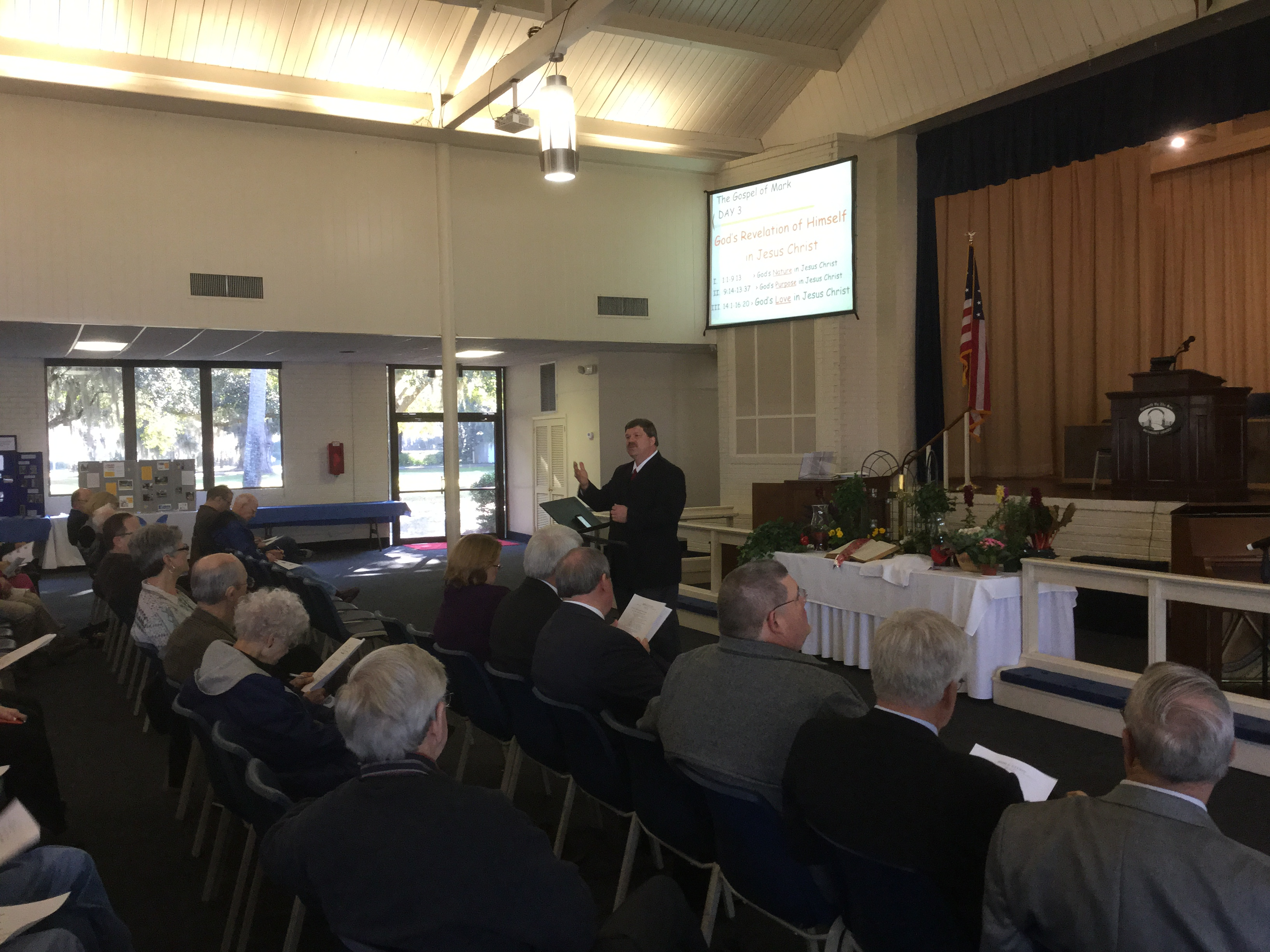 Rev. Chris Ramsey teaches Bible Study at WCM